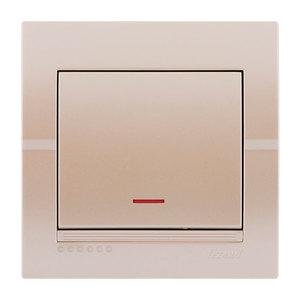 702-3030-111 Выключатель 1клавишный с индикатором скрытой установки Deriy