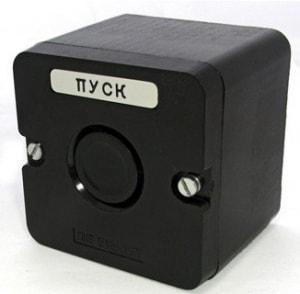 Кнопка ПКЕ 222-1(кнопка черная)