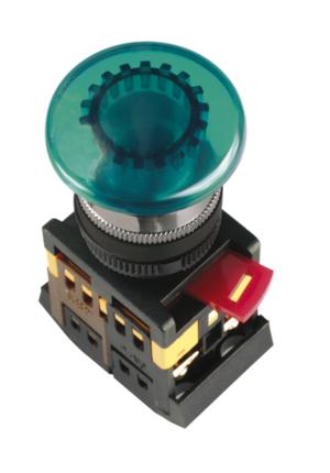 Кнопка AELA-22 (грибок зеленый неон)