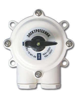 Пакетн. Выкл ПВ2 (16А) в пл.корпусе IP56 220/380