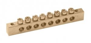 "Шина ""N"" нулевая 4х11 групп на DIN-рейку в корпусе"