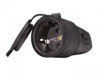 Штепсельный разъем с заглушкой 2Р+РЕ 1х16А 220-240В (каучук) 106-0400-102
